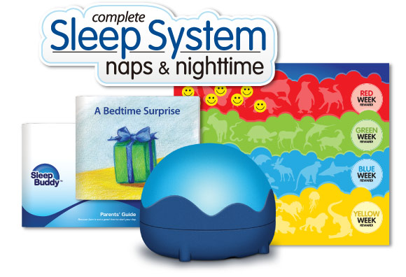 SleepBuddy is a complete sleep system to teach your kids when to stay in bed